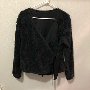 Nike Long Sleeve Wrap Top/Cardigan - Black - XS